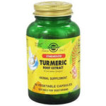 Standardized Turmeric Root Extract Vegetable Capsules Solgar Review615