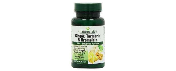 Nature's Aid Ginger, Turmeric and Bromelain Review
